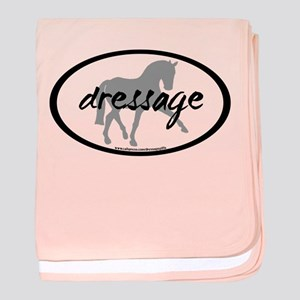 Dressage Sidepass w/ Text baby blanket