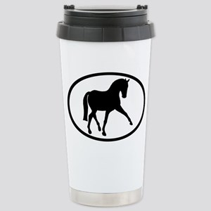 Sidepass Dressage Horse Stainless Steel Travel Mug