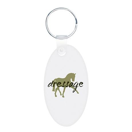 Sage Sidepass Dressage Aluminum Oval Keychain