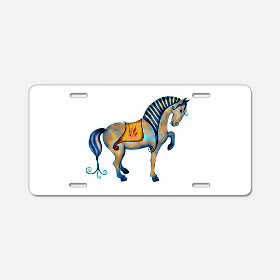 Tang Horse Two Aluminum License Plate
