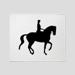 Piaffe Equestrian Throw Blanket