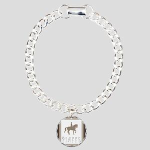 Piaffe Rider in Brown/Tan Charm Bracelet, One Char