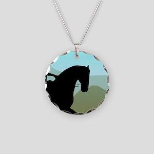 Craftsman Dressage Necklace Circle Charm