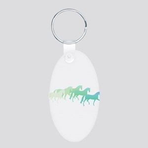 Extended Trot Greens Aluminum Oval Keychain