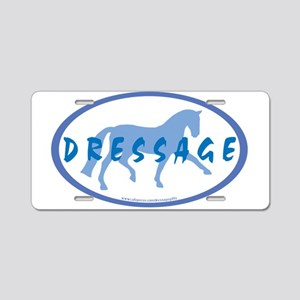 Trot Oval Hand Text (blue) Aluminum License Plate
