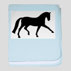 dressage extended trot baby blanket