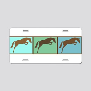 Mod Art Jumper Horses Aluminum License Plate