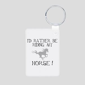 Rather...Horse! Aluminum Photo Keychain