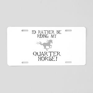 Rather...Q-Horse! Aluminum License Plate