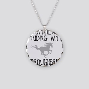 Rather...Thoroughbred! Necklace Circle Charm