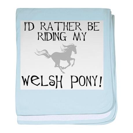 Rather-Welsh Pony! baby blanket