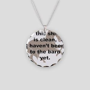Dirty Barn Shirt w/ Horse Necklace Circle Charm