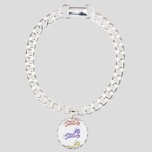 Capriole Horses Charm Bracelet, One Charm