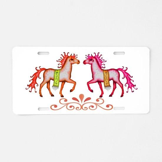 Prancing Ponies Aluminum License Plate