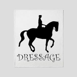 dressage silhouette Throw Blanket