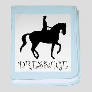 dressage silhouette baby blanket