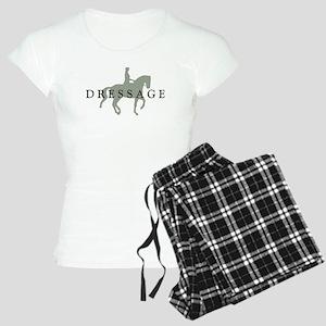 Piaffe w/ Dressage Text Women's Light Pajamas