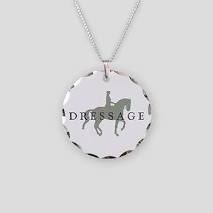 Piaffe w/ Dressage Text Necklace Circle Charm