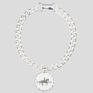 Piaffe w/ Dressage Text Charm Bracelet, One Charm