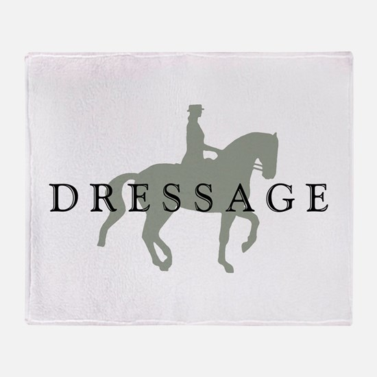 Piaffe w/ Dressage Text Throw Blanket