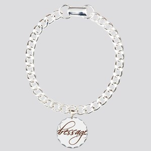 dressage (brown text) Charm Bracelet, One Charm