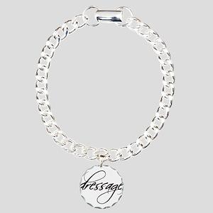 dressage (black text) Charm Bracelet, One Charm