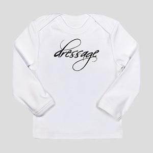 dressage (black text) Long Sleeve Infant T-Shirt
