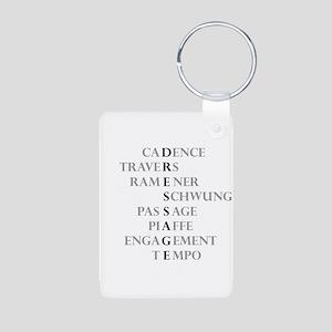 dressage language Aluminum Photo Keychain