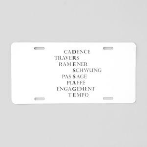 dressage language Aluminum License Plate