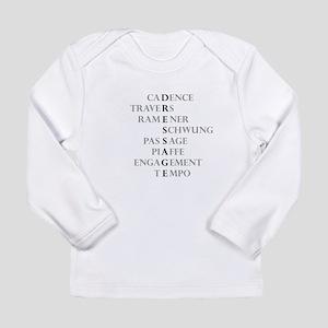 dressage language Long Sleeve Infant T-Shirt