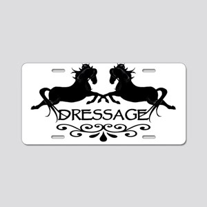 black capriole horses Aluminum License Plate