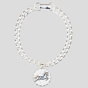 Starry Sky Horse Charm Bracelet, One Charm