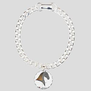 i love dressage grey Charm Bracelet, One Charm