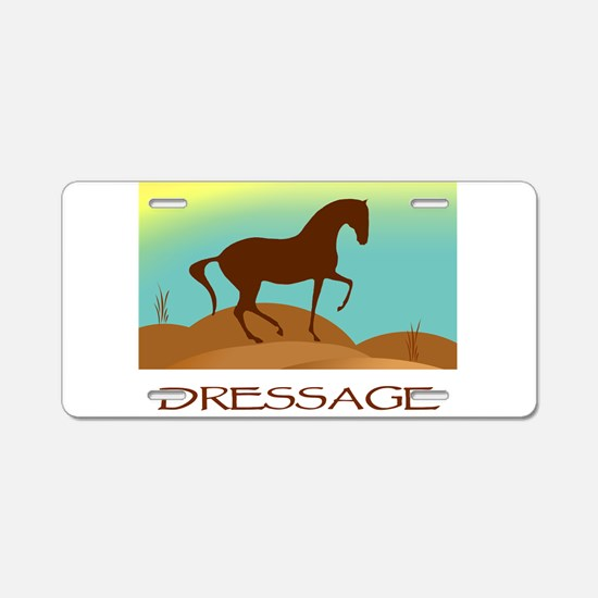 desert dressage w/ text Aluminum License Plate