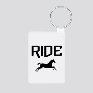 Ride...Horse Aluminum Photo Keychain