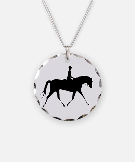 Horse & Rider Necklace Circle Charm