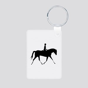 Horse & Rider Aluminum Photo Keychain