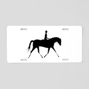 Horse & Rider Aluminum License Plate