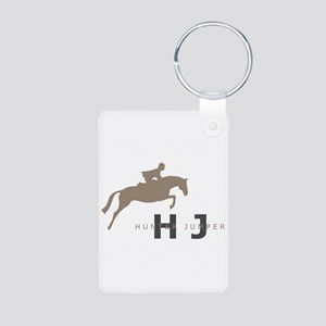 h/j horse Aluminum Photo Keychain