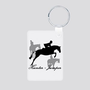 Hunter Jumper Trio Script Aluminum Photo Keychain