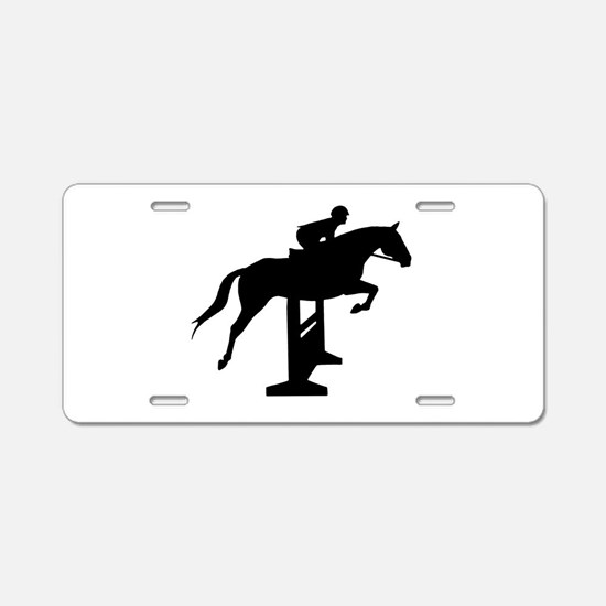 Hunter Jumper Over Fences Aluminum License Plate