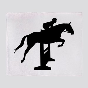 Hunter Jumper Over Fences Throw Blanket