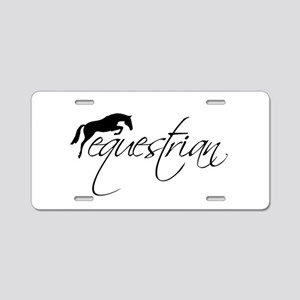 Equestrian w/ Jumping Horse Aluminum License Plate