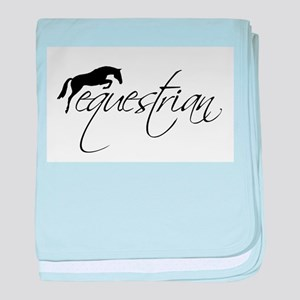 Equestrian w/ Jumping Horse baby blanket