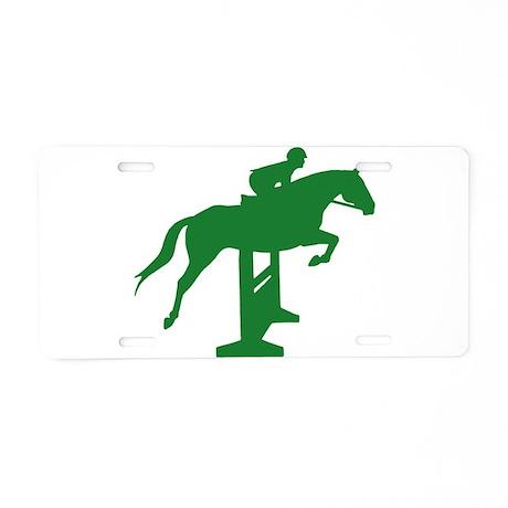 Hunter Jumper Fence Green Aluminum License Plate