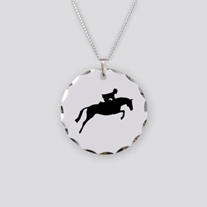 h/j horse & rider Necklace Circle Charm