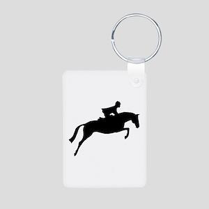 h/j horse & rider Aluminum Photo Keychain