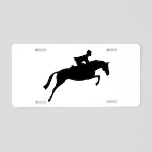 h/j horse & rider Aluminum License Plate