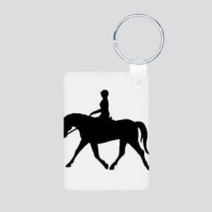 Horse Rider Aluminum Photo Keychain