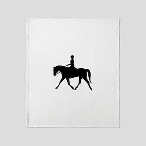 Horse Rider Throw Blanket